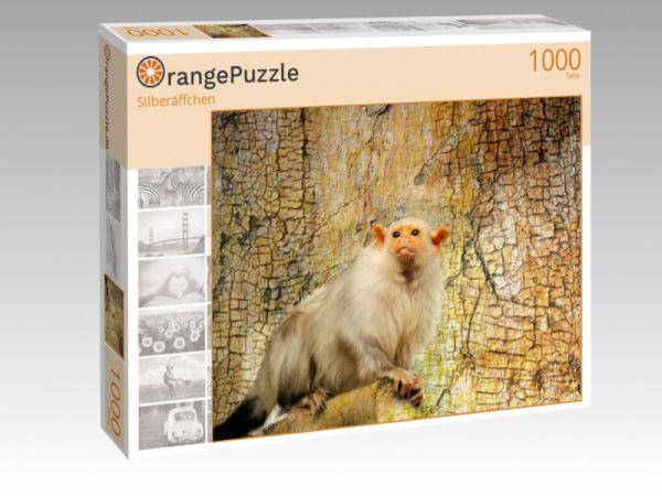 """Puzzle Motiv """"Silberäffchen"""" - Puzzle-Schachtel zu 1000 Teile Puzzle"""