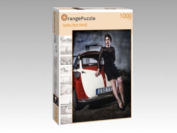 """Puzzle Motiv """"Isetta Rot-Weiß"""" - Puzzle-Schachtel zu 1000 Teile Puzzle"""