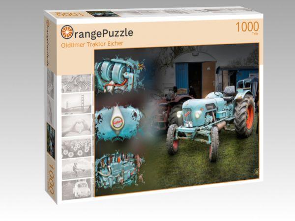 "Puzzle Motiv ""Oldtimer Traktor Eicher"" - Puzzle-Schachtel zu 1000 Teile Puzzle"