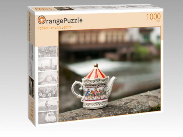 """Puzzle Motiv """"Teekanne von Sadler"""" - Puzzle-Schachtel zu 1000 Teile Puzzle"""