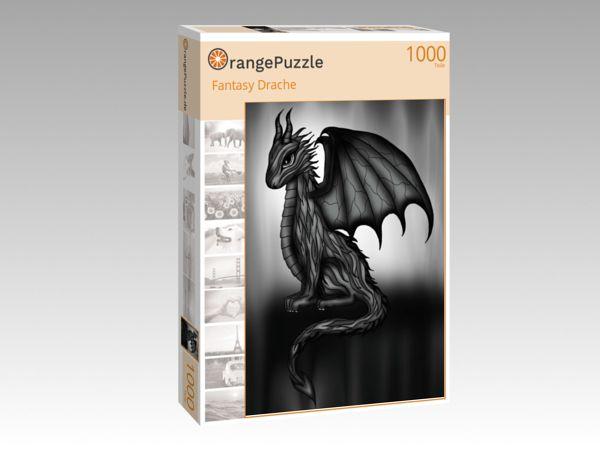 """Puzzle Motiv """"Fantasy Drache"""" - Puzzle-Schachtel zu 1000 Teile Puzzle"""