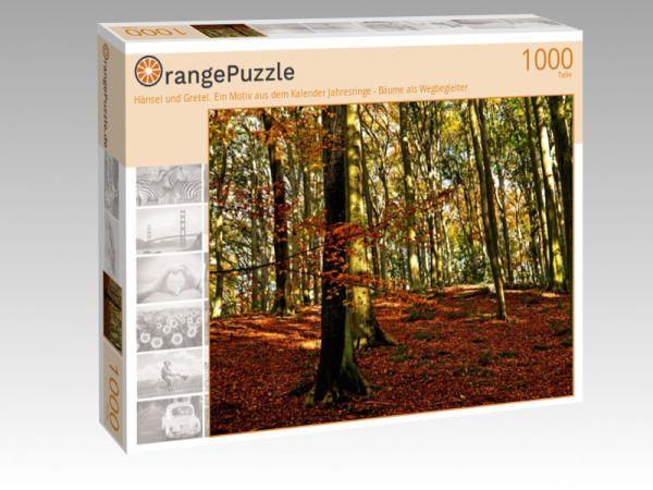 """Puzzle Motiv """"Hänsel und Gretel. Ein Motiv aus dem Kalender Jahresringe - Bäume als Wegbegleiter"""" - Puzzle-Schachtel zu 1000 Teile Puzzle"""