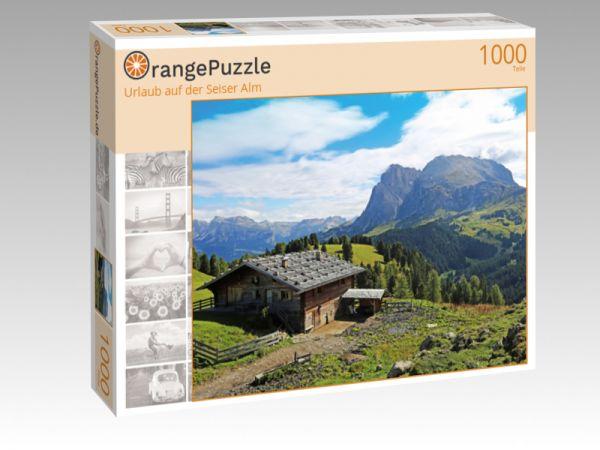 """Puzzle Motiv """"Urlaub auf der Seiser Alm"""" - Puzzle-Schachtel zu 1000 Teile Puzzle"""