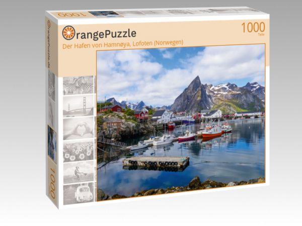 """Puzzle Motiv """"Der Hafen von Hamnøya, Lofoten (Norwegen)"""" - Puzzle-Schachtel zu 1000 Teile Puzzle"""