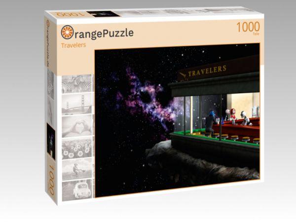 """Puzzle Motiv """"Travelers"""" - Puzzle-Schachtel zu 1000 Teile Puzzle"""