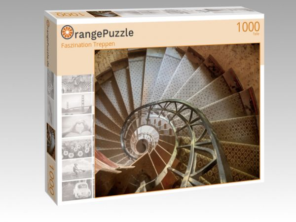 """Puzzle Motiv """"Faszination Treppen"""" - Puzzle-Schachtel zu 1000 Teile Puzzle"""
