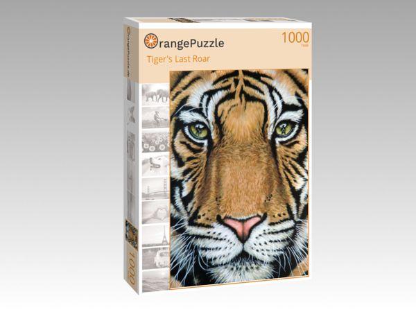"""Puzzle Motiv """"Tiger's Last Roar"""" - Puzzle-Schachtel zu 1000 Teile Puzzle"""