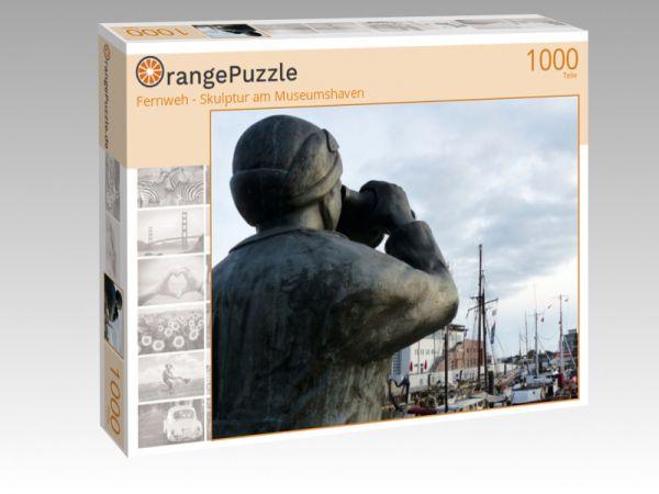 """Puzzle Motiv """"Fernweh - Skulptur am Museumshaven"""" - Puzzle-Schachtel zu 1000 Teile Puzzle"""