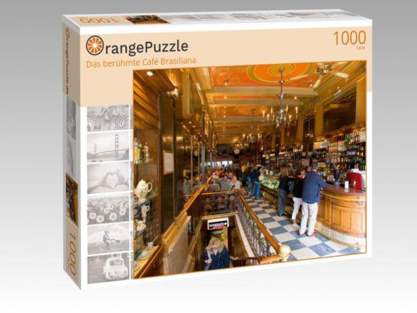 "Puzzle Motiv ""Das berühmte Café Brasiliana"" - Puzzle-Schachtel zu 1000 Teile Puzzle"
