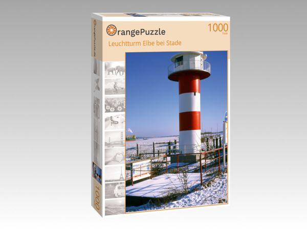 "Puzzle Motiv ""Leuchtturm Elbe bei Stade"" - Puzzle-Schachtel zu 1000 Teile Puzzle"