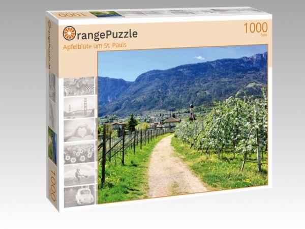 """Puzzle Motiv """"Apfelblüte um St. Pauls"""" - Puzzle-Schachtel zu 1000 Teile Puzzle"""