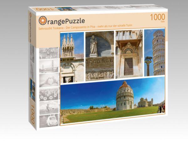 """Puzzle Motiv """"Sehnsucht Toskana - Der Camposanto in Pisa - mehr als nur der schiefe Turm"""" - Puzzle-Schachtel zu 1000 Teile Puzzle"""