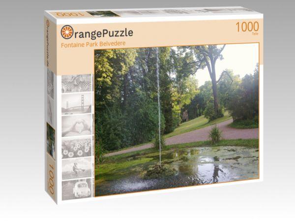 """Puzzle Motiv """"Fontaine Park Belvedere"""" - Puzzle-Schachtel zu 1000 Teile Puzzle"""