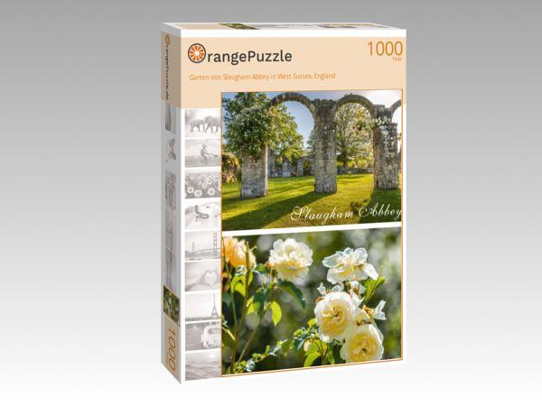 """Puzzle Motiv """"Garten von Slaugham Abbey in West Sussex, England"""" - Puzzle-Schachtel zu 1000 Teile Puzzle"""