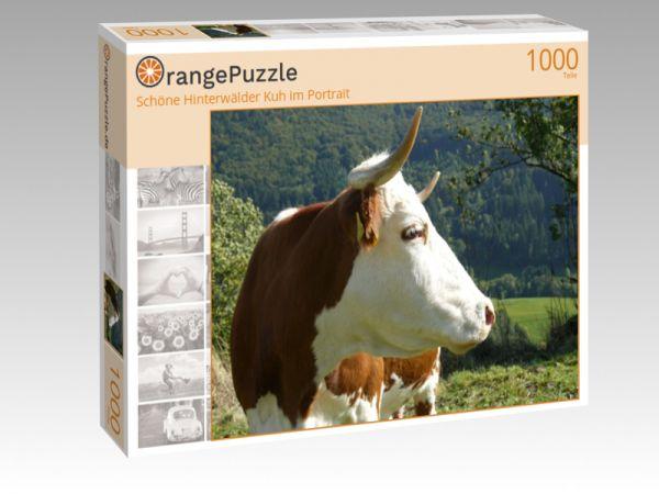 """Puzzle Motiv """"Schöne Hinterwälder Kuh im Portrait"""" - Puzzle-Schachtel zu 1000 Teile Puzzle"""