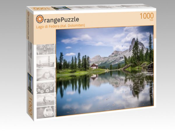 "Puzzle Motiv ""Lago di Federa (ital. Dolomiten)"" - Puzzle-Schachtel zu 1000 Teile Puzzle"