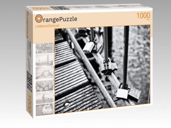 """Puzzle Motiv """"Liebesschlösser"""" - Puzzle-Schachtel zu 1000 Teile Puzzle"""