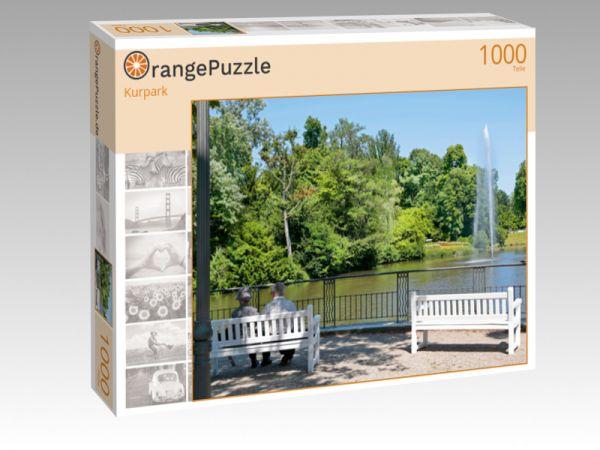 """Puzzle Motiv """"Kurpark"""" - Puzzle-Schachtel zu 1000 Teile Puzzle"""