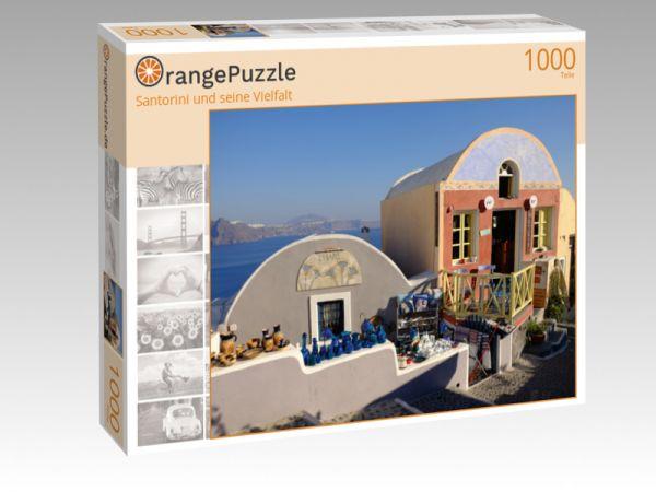 """Puzzle Motiv """"Santorini und seine Vielfalt"""" - Puzzle-Schachtel zu 1000 Teile Puzzle"""
