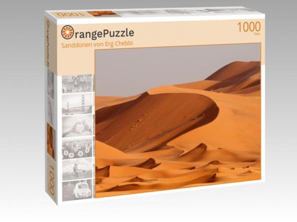 """Puzzle Motiv """"Sanddünen von Erg Chebbi"""" - Puzzle-Schachtel zu 1000 Teile Puzzle"""
