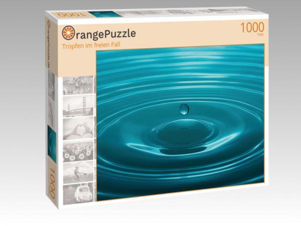 "Puzzle Motiv ""Tropfen im freien Fall"" - Puzzle-Schachtel zu 1000 Teile Puzzle"