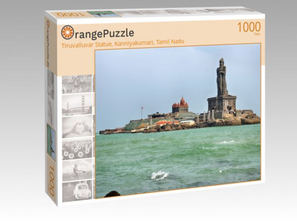 "Puzzle Motiv ""Tiruvalluvar Statue, Kanniyakumari, Tamil Nadu"" - Puzzle-Schachtel zu 1000 Teile Puzzle"