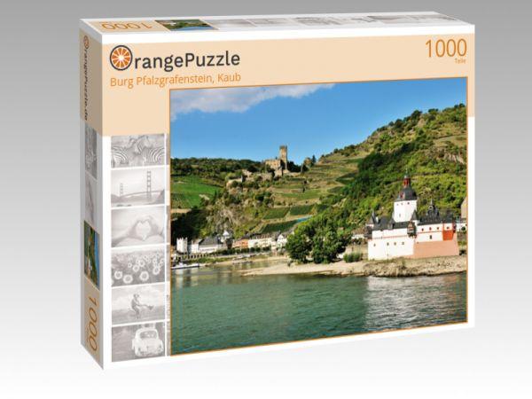 """Puzzle Motiv """"Burg Pfalzgrafenstein, Kaub"""" - Puzzle-Schachtel zu 1000 Teile Puzzle"""
