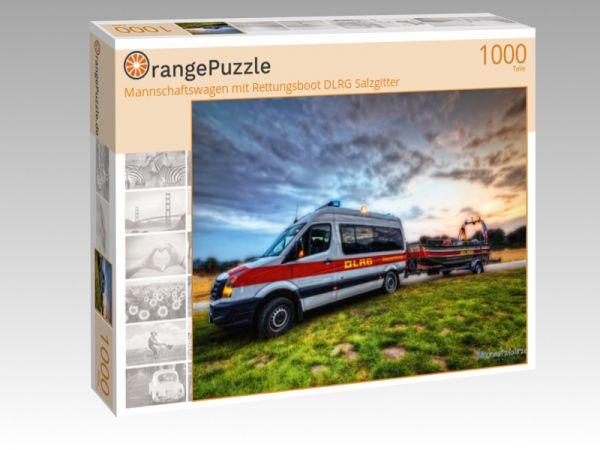 """Puzzle Motiv """"Mannschaftswagen mit Rettungsboot DLRG Salzgitter"""" - Puzzle-Schachtel zu 1000 Teile Puzzle"""