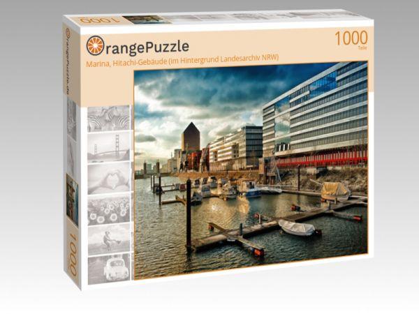"""Puzzle Motiv """"Marina, Hitachi-Gebäude (im Hintergrund Landesarchiv NRW)"""" - Puzzle-Schachtel zu 1000 Teile Puzzle"""