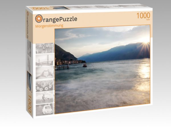 "Puzzle Motiv ""Morgenstimmung"" - Puzzle-Schachtel zu 1000 Teile Puzzle"