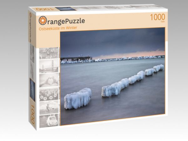 """Puzzle Motiv """"Ostseeküste im Winter"""" - Puzzle-Schachtel zu 1000 Teile Puzzle"""