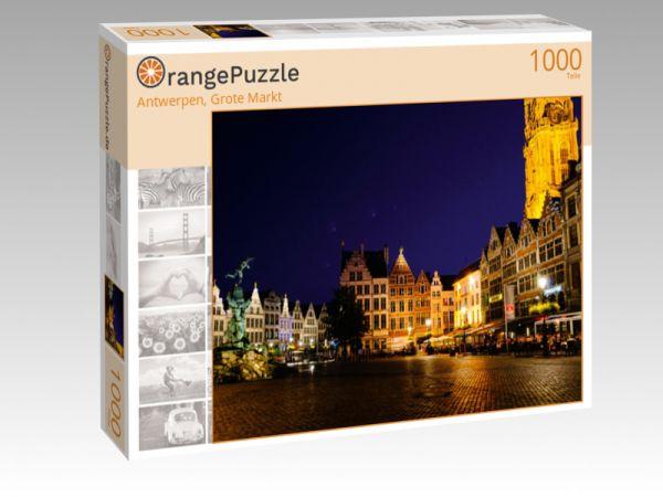 """Puzzle Motiv """"Antwerpen, Grote Markt"""" - Puzzle-Schachtel zu 1000 Teile Puzzle"""