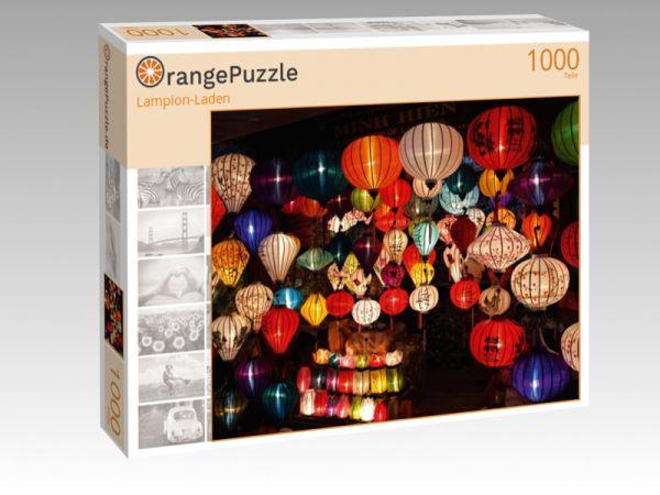 """Puzzle Motiv """"Lampion-Laden"""" - Puzzle-Schachtel zu 1000 Teile Puzzle"""