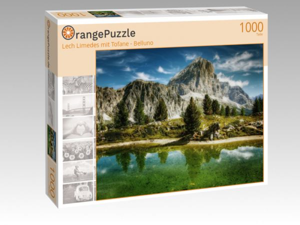 """Puzzle Motiv """"Lech Limedes mit Tofane - Belluno"""" - Puzzle-Schachtel zu 1000 Teile Puzzle"""