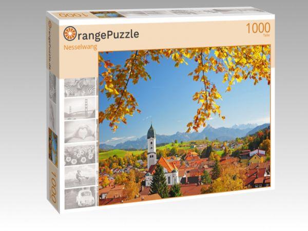 """Puzzle Motiv """"Nesselwang"""" - Puzzle-Schachtel zu 1000 Teile Puzzle"""