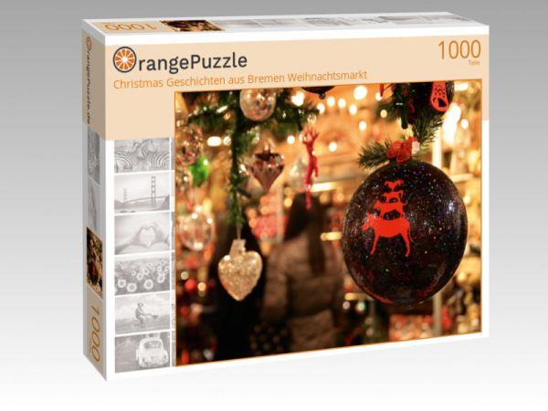 """Puzzle Motiv """"Christmas Geschichten aus Bremen Weihnachtsmarkt"""" - Puzzle-Schachtel zu 1000 Teile Puzzle"""
