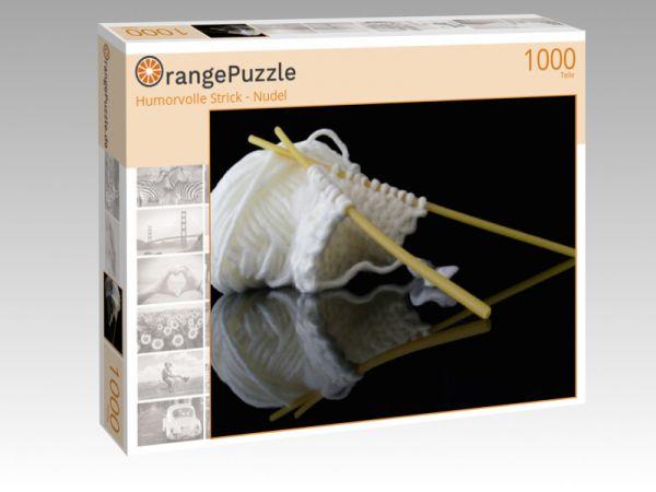 """Puzzle Motiv """"Humorvolle Strick - Nudel"""" - Puzzle-Schachtel zu 1000 Teile Puzzle"""