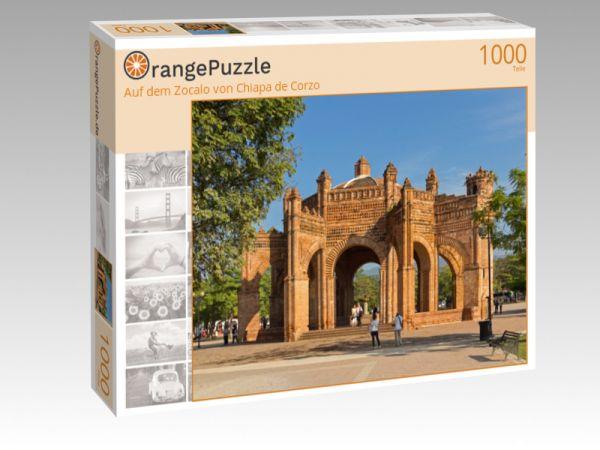 """Puzzle Motiv """"Auf dem Zocalo von Chiapa de Corzo"""" - Puzzle-Schachtel zu 1000 Teile Puzzle"""