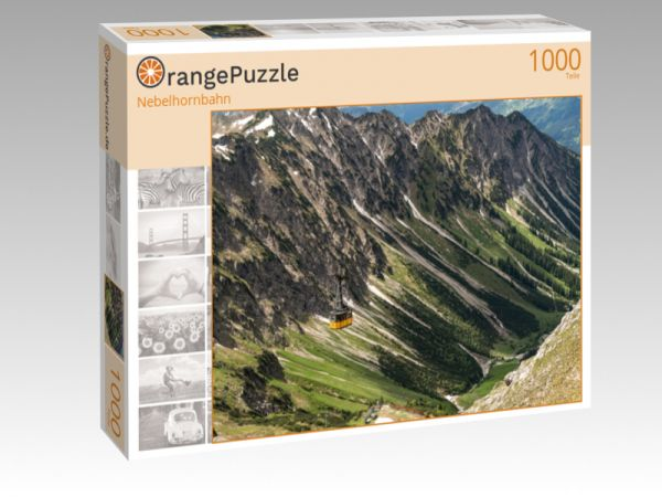 "Puzzle Motiv ""Nebelhornbahn"" - Puzzle-Schachtel zu 1000 Teile Puzzle"