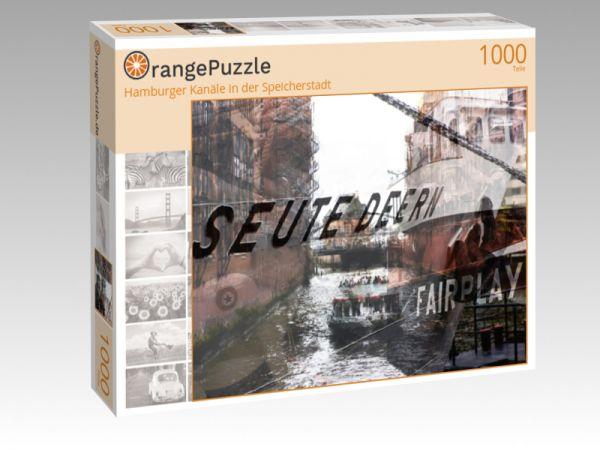 """Puzzle Motiv """"Hamburger Kanäle in der Speicherstadt"""" - Puzzle-Schachtel zu 1000 Teile Puzzle"""