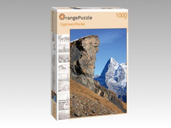 """Puzzle Motiv """"Eigerwestflanke"""" - Puzzle-Schachtel zu 1000 Teile Puzzle"""