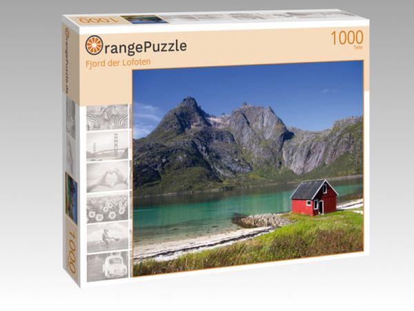 """Puzzle Motiv """"Fjord der Lofoten"""" - Puzzle-Schachtel zu 1000 Teile Puzzle"""