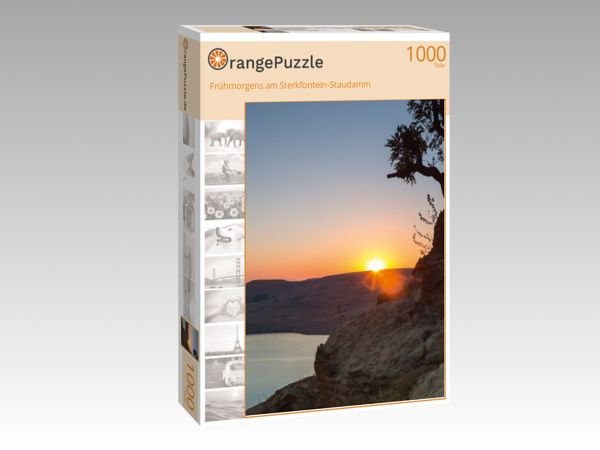 """Puzzle Motiv """"Frühmorgens am Sterkfontein-Staudamm"""" - Puzzle-Schachtel zu 1000 Teile Puzzle"""