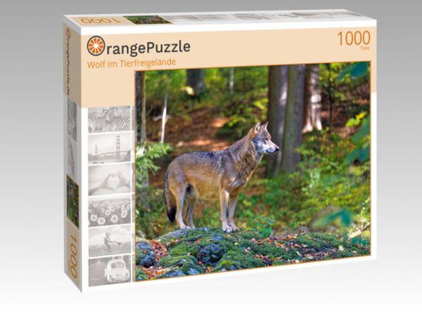 """Puzzle Motiv """"Wolf im Tierfreigelände"""" - Puzzle-Schachtel zu 1000 Teile Puzzle"""