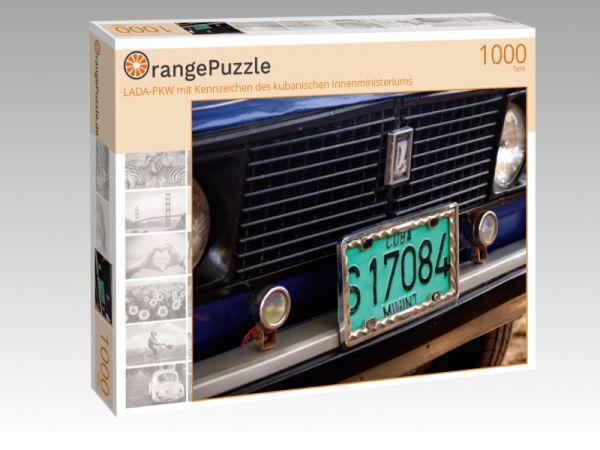 """Puzzle Motiv """"LADA-PKW mit Kennzeichen des kubanischen Innenministeriums"""" - Puzzle-Schachtel zu 1000 Teile Puzzle"""