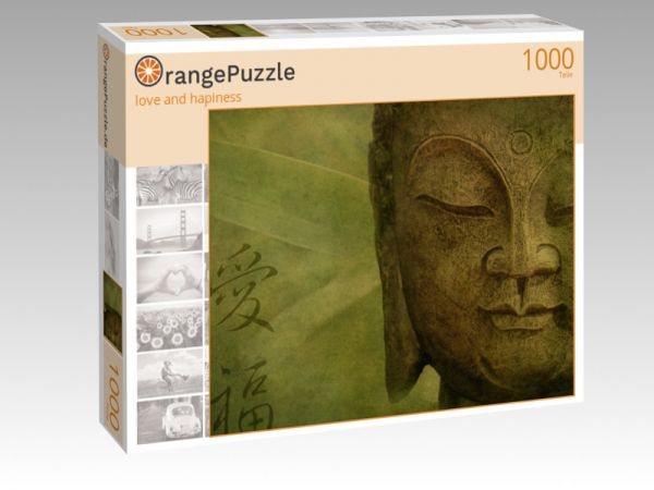 "Puzzle Motiv ""love and hapiness"" - Puzzle-Schachtel zu 1000 Teile Puzzle"