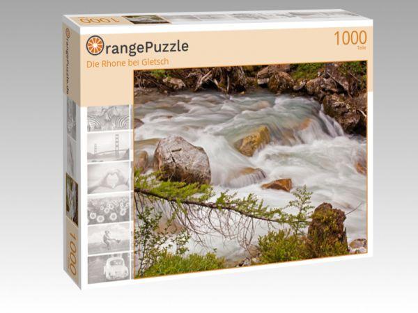 """Puzzle Motiv """"Die Rhone bei Gletsch"""" - Puzzle-Schachtel zu 1000 Teile Puzzle"""