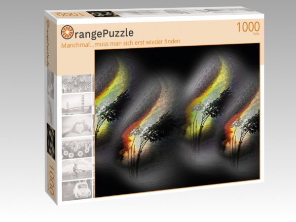 """Puzzle Motiv """"Manchmal...muss man sich erst wieder finden"""" - Puzzle-Schachtel zu 1000 Teile Puzzle"""
