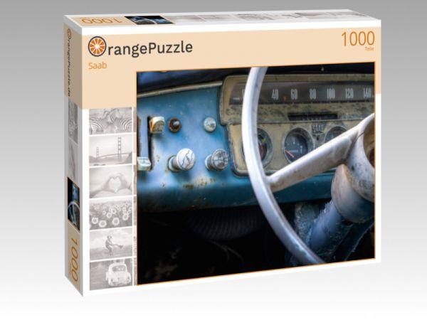 """Puzzle Motiv """"Saab"""" - Puzzle-Schachtel zu 1000 Teile Puzzle"""