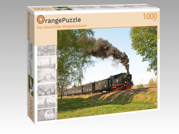 """Puzzle Motiv """"Die Mansfelder Bergwerksbahn"""" - Puzzle-Schachtel zu 1000 Teile Puzzle"""